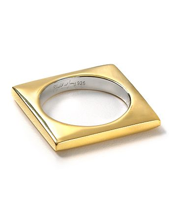Elizabeth and James - Gold Square Stacking Ring
