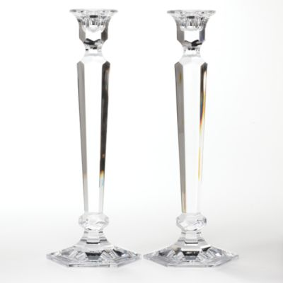 "Reed /& Barton Summit Crystal 2-piece 12/"" Candlestick Set"