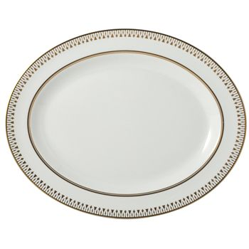 "Bernardaud - Soleil Levant Oval Platter, 13"""
