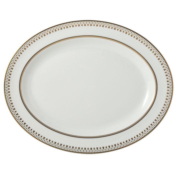 "Bernardaud - Soleil Levant Oval Platter, 15"""