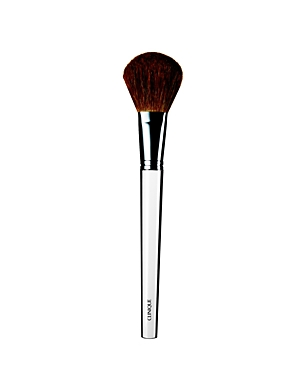 What It Is: A perfectly sized and softly tapered blush brush. What It Does: Deposits the right amount of powder blush on apples of cheeks and/or cheekbones. Highlights temples, bridge of nose and chin. Unique antibacterial technology.
