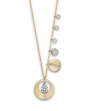 Meira T Yellow Gold Charm Necklace, 16