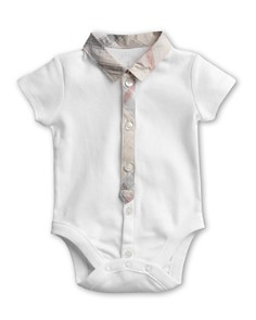 Burberry Boys' Layette Tannar Short Sleeve Bodysuit - Baby - Bloomingdale's_0