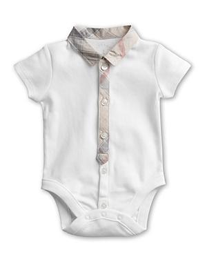 Burberry Boys Layette Tannar Short Sleeve Bodysuit  Baby