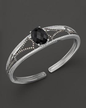 Badgley Mischka - Onyx and diamond cuff