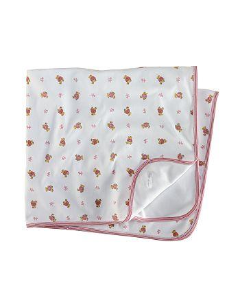 Ralph Lauren - Girls' Layette Reversible Printed Receiving Blanket - Baby