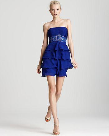 Sue Wong - Strapless Ruffle Dress