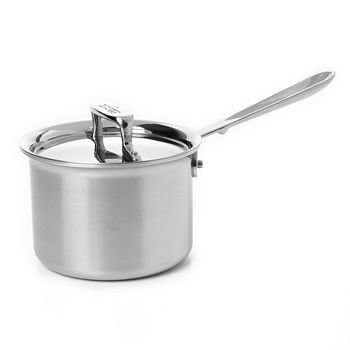 All-Clad - d5 Stainless Brushed 2 Quart Sauce Pan with Lid
