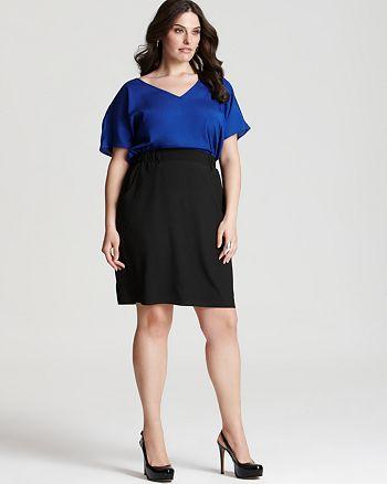 Love Ady Plus - Color Block Dress