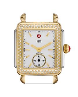 MICHELE - Deco Mid 16 Diamond Two Tone Watch Head, 29 x 31mm