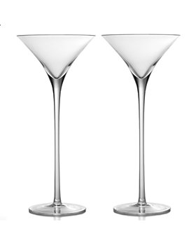 William Yeoward Crystal - Crystal Lillian Tall Martini Glass, Set of 2