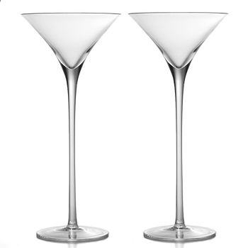 William Yeoward Crystal - Crystal Lillian Tall Martini Glass, Set of 2