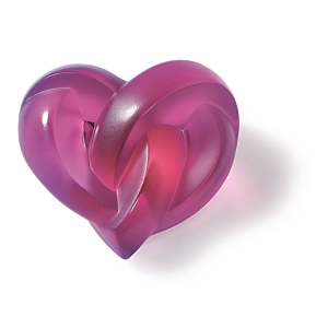 Lalique Heart Paperweight Clear