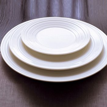 "Wedgwood - Jasper Conran at  ""White"" 13"" Swirl Plate"