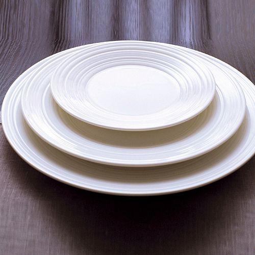 """Jasper Conran Wedgwood - Jasper Conran at Wedgwood """"White"""" 13"""" Swirl Plate"""