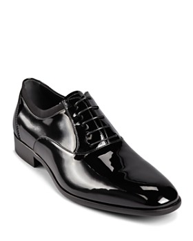 Salvatore Ferragamo - Men's Aiden Patent Leather Tuxedo Oxford Shoes