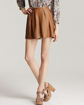 Rebecca Taylor - Leather Skirt