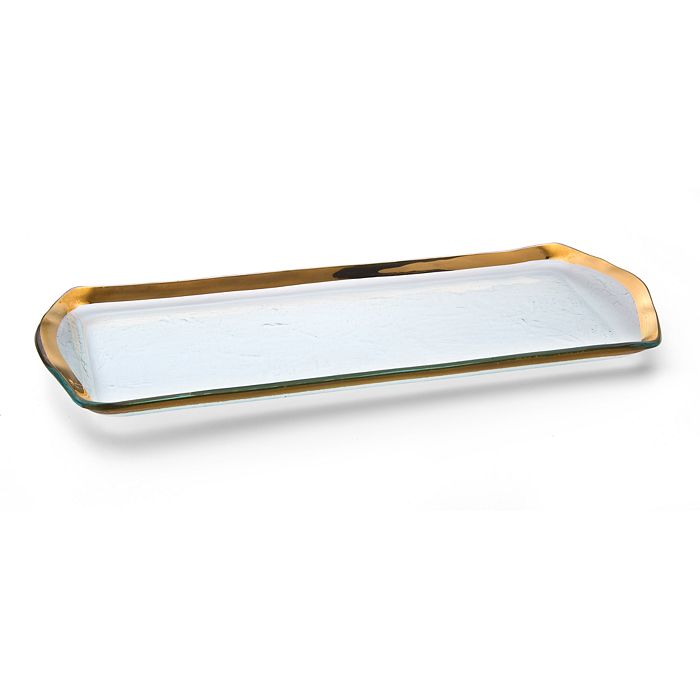 Annieglass - Roman Antique Oblong Pastry Tray