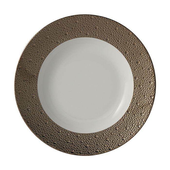 Bernardaud - Ecume Platinum Rim Soup Bowl