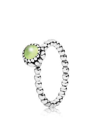 ffe3d92b8 Pandora Ring - Sterling Silver & Peridot Birthday Blooms August |  Bloomingdale's