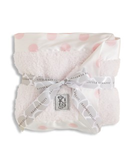 Little Giraffe - Infant Girls' Chenille Polkadot Blanket - Baby