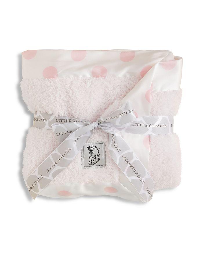Little Giraffe - Infant Girls' Chenille Polkadot Blanket - Baby