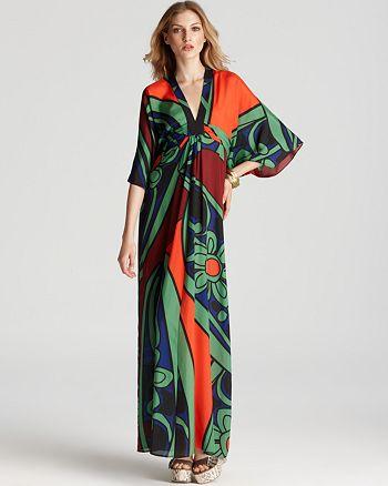 Issa London Kimono Dress Printed Chiffon