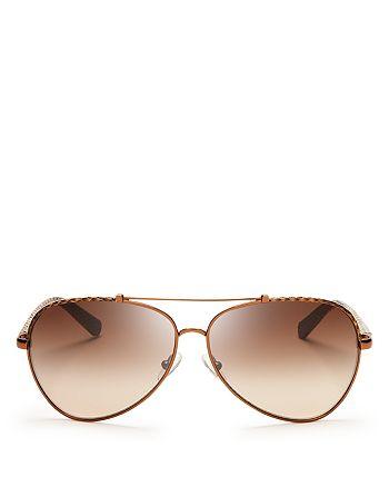 Tory Burch - Women's Signature Aviator Sunglasses, 62mm