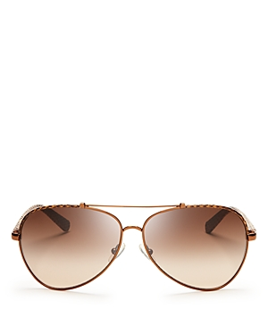 Tory Burch Signature Aviator Sunglasses, 62mm