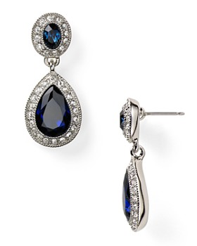 Carolee - Pave Stone Double Drop Earrings