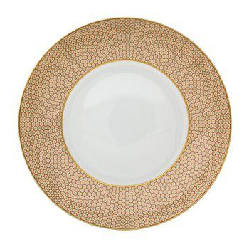 Raynaud - Tresor Orange Rim Soup Plate