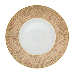 Raynaud Tresor Orange Rim Soup Plate