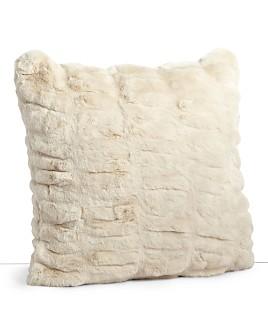 """Hudson Park Collection - Sculpted Faux Fur Decorative Pillow, 20"""" x 20"""" - 100% Exclusive"""