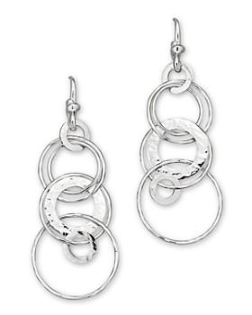 IPPOLITA - Ippolita Sterling Silver Hammered Jet Set Earrings