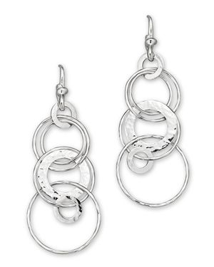 Ippolita Sterling Silver Hammered Jet Set Earrings