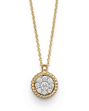 Diamond Cluster Pendant in 14K Yellow Gold, .20 ct. tw. - 100% Exclusive