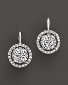Diamond Cluster Earrings in 14K White Gold, 1.25 ct. t.w. - Bloomingdale's_0