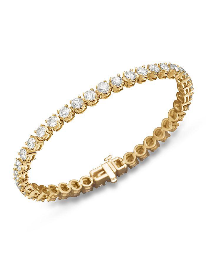 Bloomingdale's - Diamond Tennis Bracelet in 14K Yellow Gold - 100% Exclusive