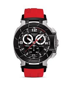 Tissot - Tissot T-Race Men's Black Quartz Chronograph Red Rubber Watch, 50mm