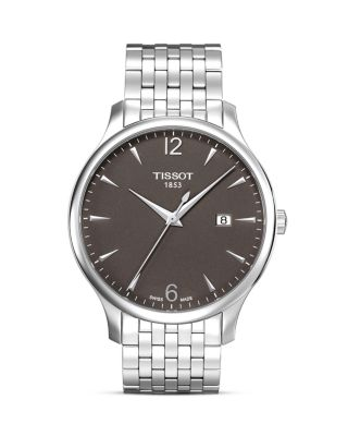 TISSOT Tradition Men'S Anthracite Quartz Classic Watch, 42Mm in Silver/ Grey/ Silver