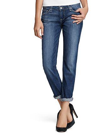 20cb470eb4544 PAIGE Boyfriend Jeans in Tigerlily | Bloomingdale's