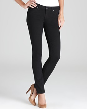 PAIGE - Transcend Verdugo Ultra Skinny Jeans in Black Shadow