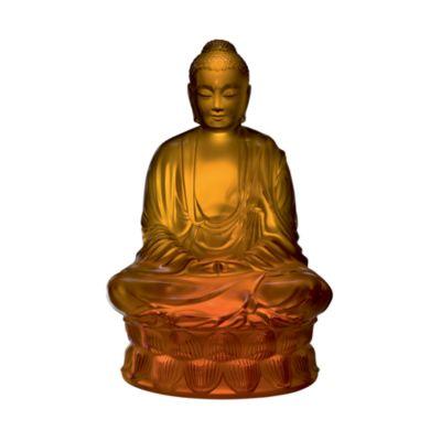 Small Buddha Figure, Amber