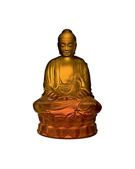 Lalique - Small Buddha Figure, Amber