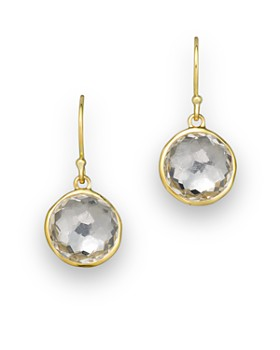 IPPOLITA - 18K Yellow Gold Lollipop Earrings in Clear Quartz