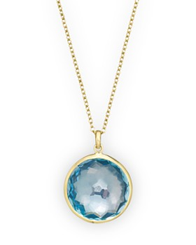 IPPOLITA - Ippolita 18K Yellow Gold Lollipop Pendant Necklace in Blue Topaz, 16""