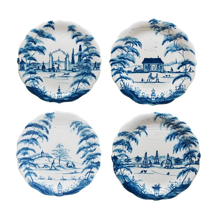 Juliska - Country Estate Delft Blue Party Plates Set/4