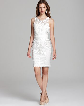 Sue Wong - Short Dress - Ribbon Embroidered