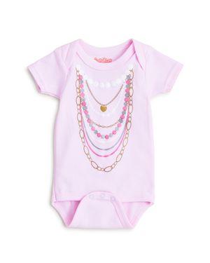 Sara Kety Girls' Pearl Necklace Bodysuit - Baby