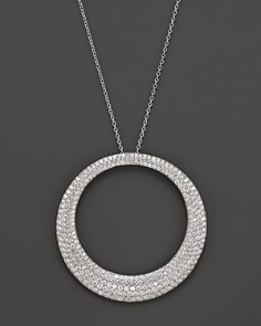 "Roberto Coin 18K White Gold Large Scalare Diamond Necklace, 18"" - Bloomingdale's_0"
